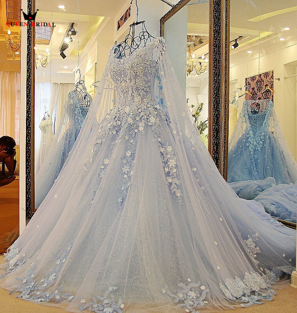 Discount Fantasy Fairy Medieval Gothic Wedding Dresses: QUEEN BRIDAL Luxury Evening Dresses Ball Gown Appliqued