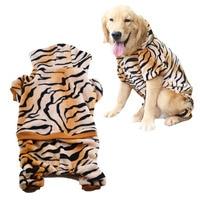 Pet Costume Velvet Leopard Pattern Dog Hoodie Button Up Design Jacket With Four Legs Dog Coat