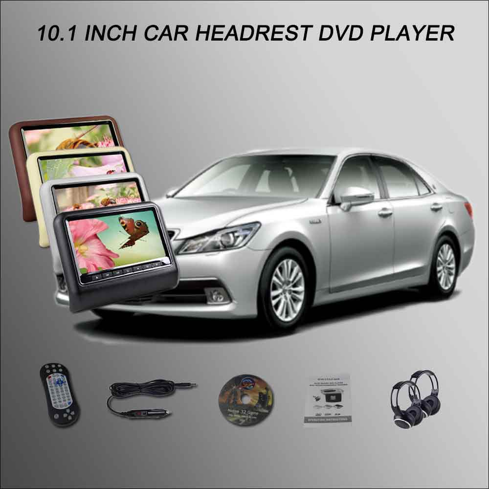 BigBigRoad Car Headrest Monitor /2*10.1 Digital ScreenSupport USB SD DVD Player Games Re ...