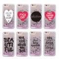 Beautiful Positive Quote Unicorn Heart Glitter Liquid Hard Phone Case For iPhone 6 6S 7 7Plus 8 8Plus 5 5S SE XS Max