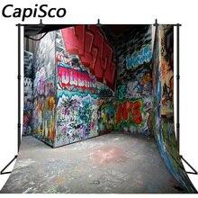Jqco fundo de fotografia graffiti fundo de fotografia infantil impressão digital foto pano de fundo para estúdio fotográfico