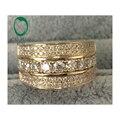 Mitad Eternidad 14 k Oro H SI Diamante 1.48ct Natural Compromiso de La Boda Para Hombre de Banda