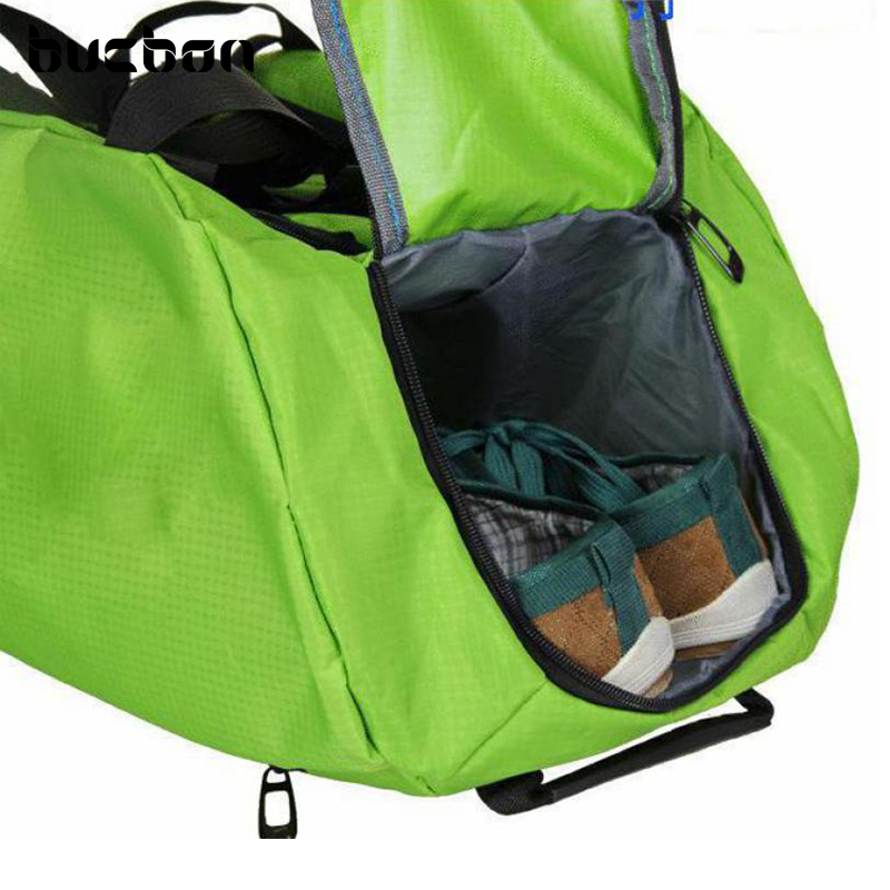 Bucbon Shoe Compartment Shoulder Gym Backpack Sports Bag For Men Women Training Fitness Durable Nylon Travel Rucksack Hac071 In Bags From
