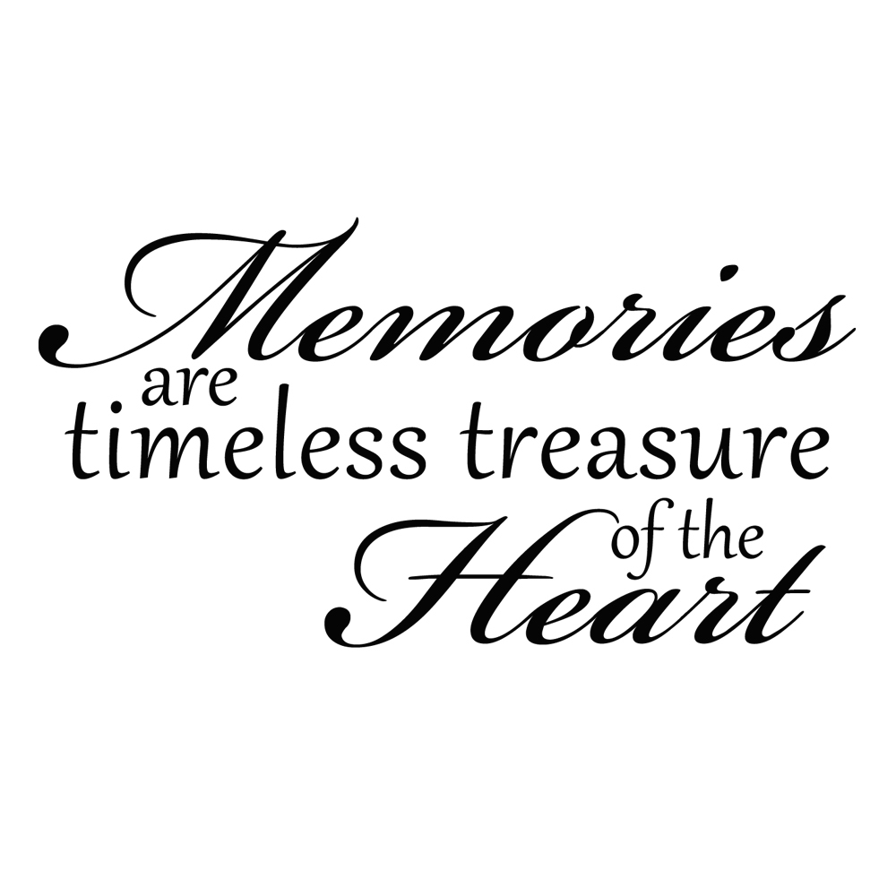 memories are timeless treasures of the heart vinyl wall word decal