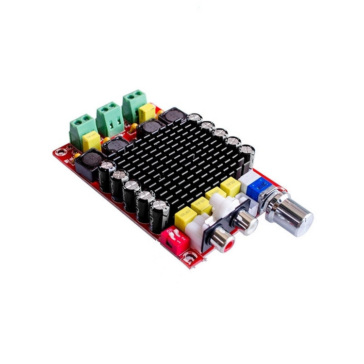 цена на OTM510 TDA7498 high-power digital amplifier board 2*100w power amplifier dc 14 to 34v