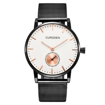 Top Brand CURDDEN Minimalist Male Watches Men Stainless Steel Fashion Watch Mens Business Gold Erkek Saat Relogio Masculino 6988