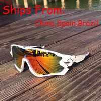 Gafas de sol polarizadas para ciclismo, gafas de sol para deportes al aire libre, gafas de sol para hombres y mujeres, gafas 35g, lentes 5