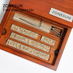 Image 3 - ZONESUN 6 مللي متر T فتحة 10 سنتيمتر تركيبات + 52 حروف الأبجدية + 10 أرقام + 20 رمز مخصص ختم الجلود حنين أداة العلامة التجارية آلة الحديد