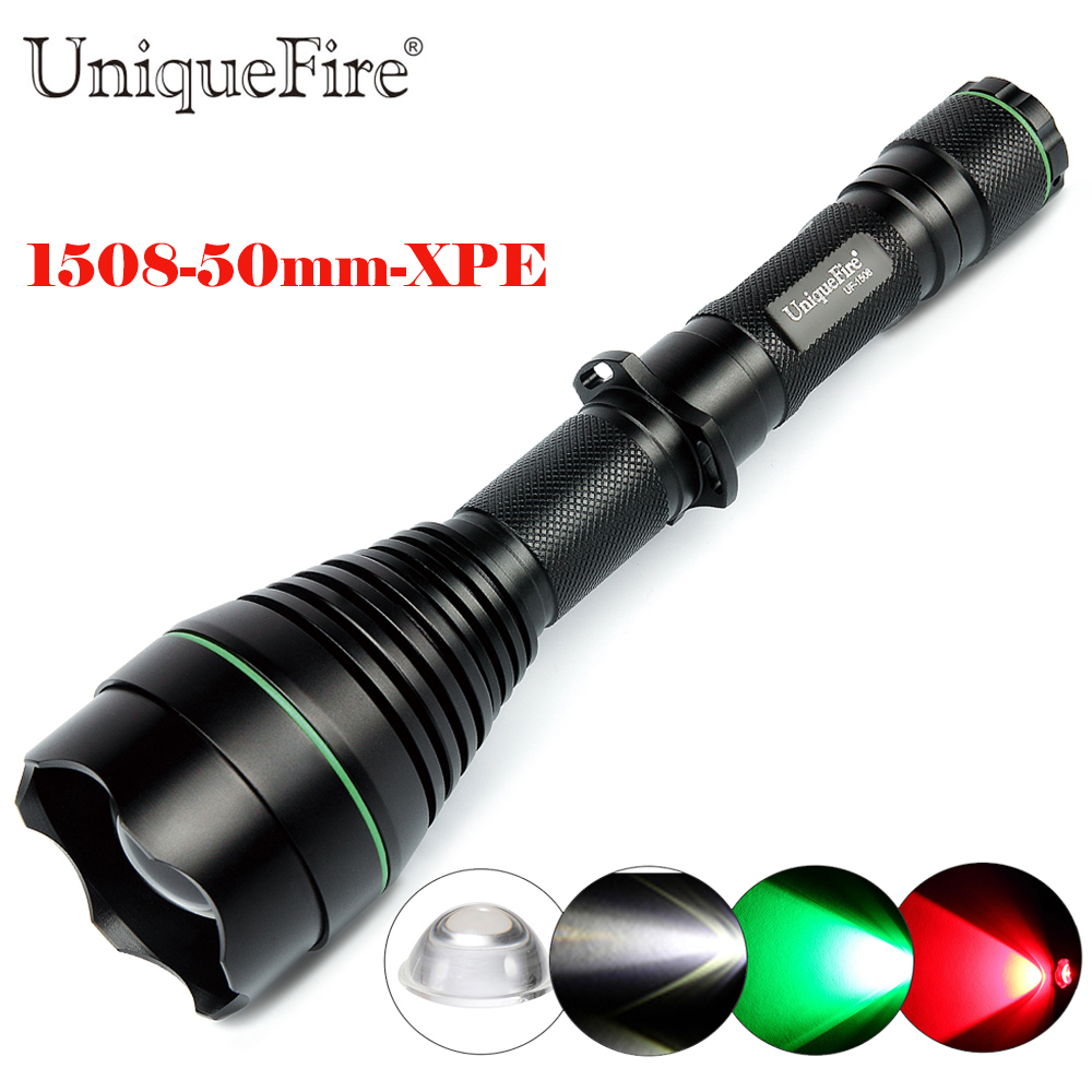 UniqueFire 1508-50mm-XPE 3 Modes Adjustable LED Flashlight Rechargeable Lamp Torch, IP67 Waterproof Lamp Torch For 18650 Battery бритва браун 1508 тип 5597