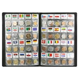 Image 4 - 世界のさまざまな国から 120 コイン、オリジナルリアルミントコインレザーアルバム、世界コレクションセットグッズ