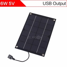 ELEGEEK 6W Semi Flexible Monocrystalline silicon Solar Panel Charger 5V USB Portable Solar Charger with 5V Regulator for iPhone