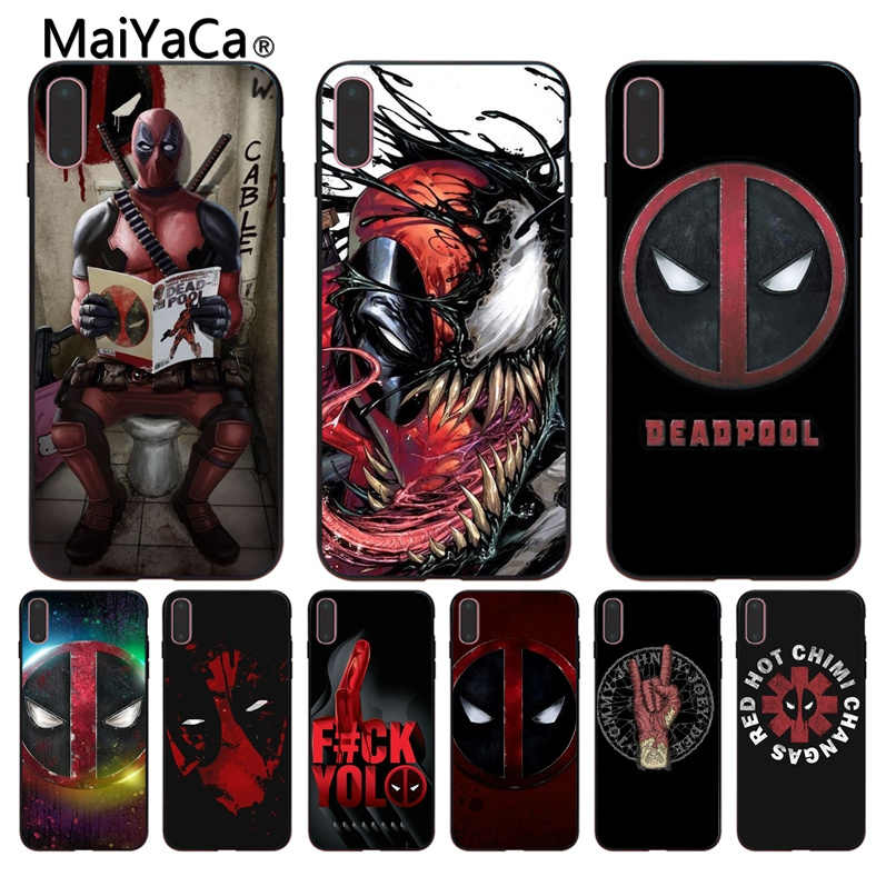 873170aec1d1b3 MaiYaCa marvel comics wallpapers Cheap wholesale black Shell Phone Case For  iPhone X 6 6S 7