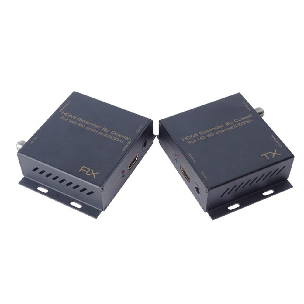 KOQIT 500 м HDMI Extender по HDMI, коаксиальный к DVB-T модулятора HDMI Splitter матрица конвертер РФ Выход цифровой ТВ приемник 1080 P