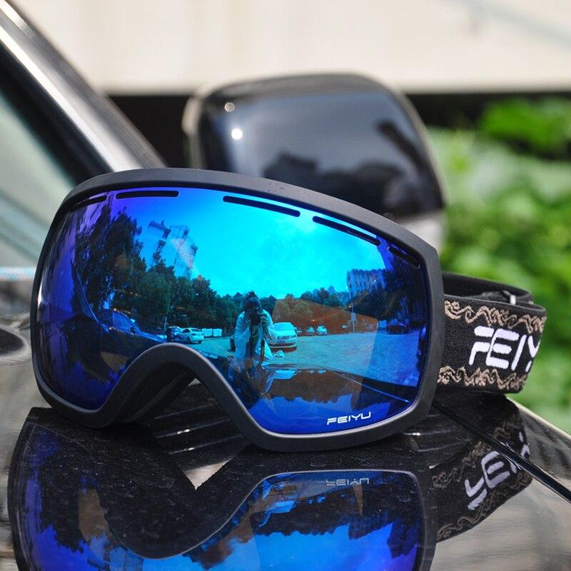 a90b779992c6b Óculos De marca De Esqui da Neve do Inverno Esportes Máscara Snowboard  Óculos Óculos de Proteção