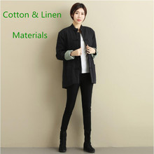 Unisex Chinese folk style short Linen Wear Outer layer cotton linen overcoat outwear casual Jacket Cashmere double breasted coat цена