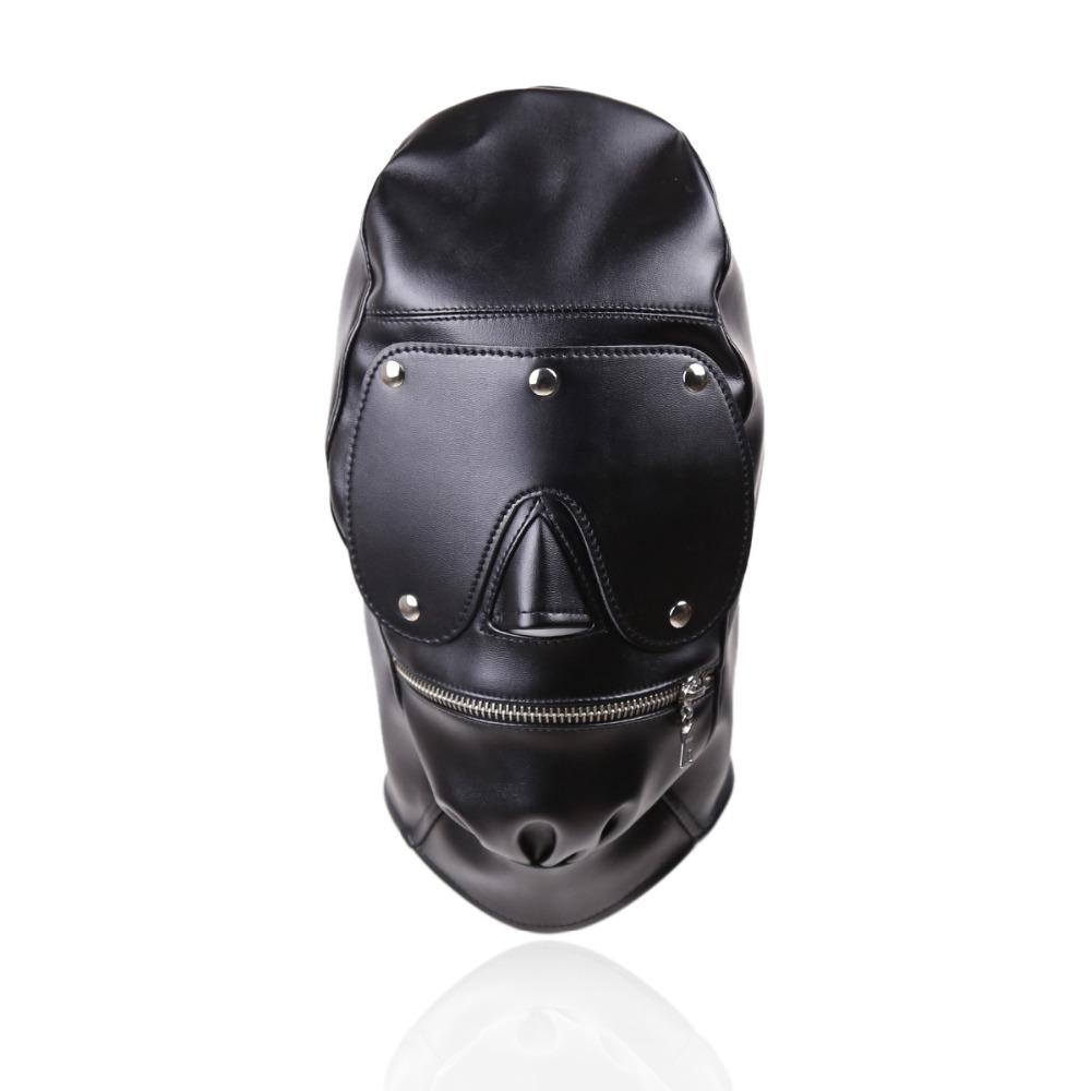 PU Leather Harness BDSM Bondage Harness Gag Gay Mouth Mask Sex Mask Adult Sex SM Men Women Party Sexy Masks
