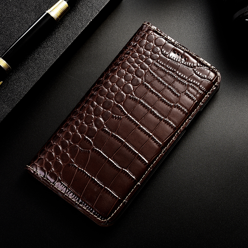Crocodile Pattern Genuine Leather Case For font b OnePlus b font One Two 1 2 3