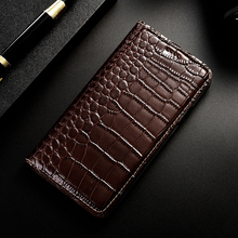 Crocodile Pattern Genuine Leather Case For OnePlus One Two 1 2 3 X 5 5T 6 6T 7 Pro Cell Phone Cases