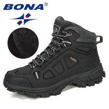 BONA – Bottes de neige fendues pour homme, baskets montantes à la mode et confortables, de nouveau styliste, pour l'hiver