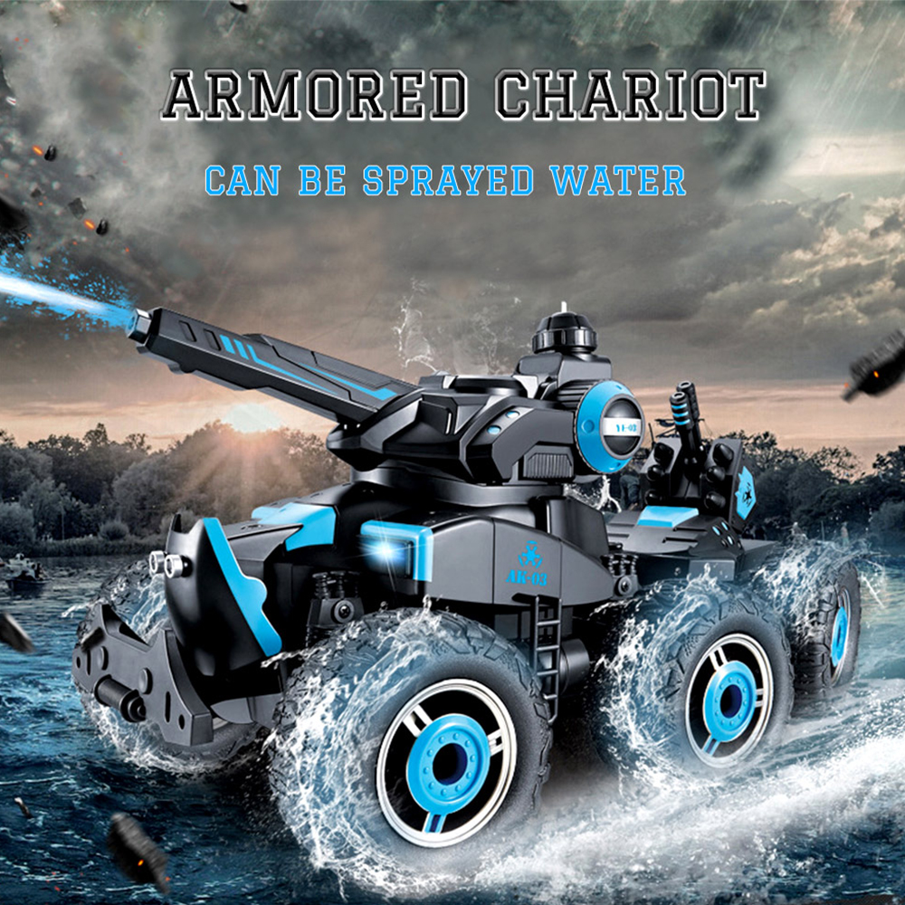 Can emit water column RC1/18 Tank  4CH 24Mhz Infrared RC Battle Tiger Tank Cannon Remote Control Tank Fort Rotate Fighting Tank 1 2 built side inlet floating ball valve automatic water level control valve for water tank f water tank water tower