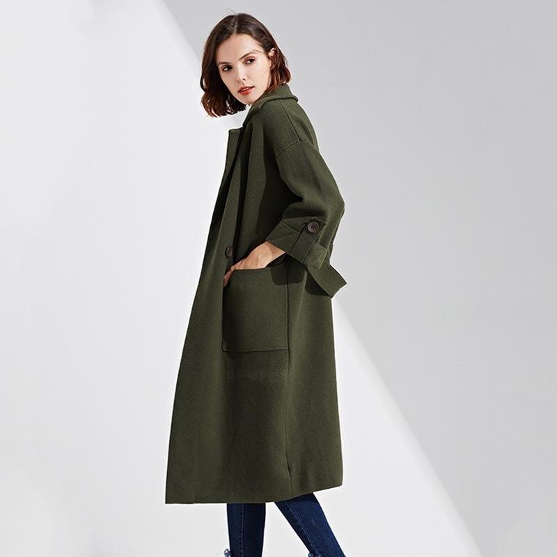 Plus Green Automne Manteaux Mode Vestes Hiver Manteau rouge Tricoté army Noir Blousons Vert Décontractée Taille Longs Piste De 2017 Veste Femmes Chandail qfXPwxRx