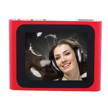 Portable 1.8 Inch LCD Screen Display MP4 Player 6th Generation Music Media Video Movie FM Radio MP4 Player With clip Hot Sell