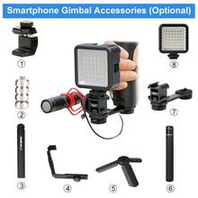 DJI Osmo Mobile 2 3 Аксессуары тройное Крепление-адаптер для горячего башмака микрофон удлинитель кронштейн для BY-MM1 для Zhiyun Smooth 4 Q