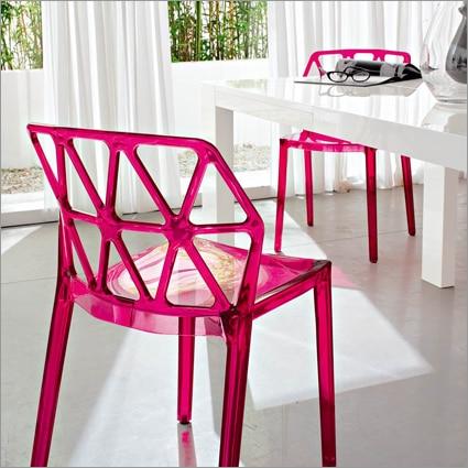 Modern Design transparent Clear Stackable Dining Chair Loft Cafe ...