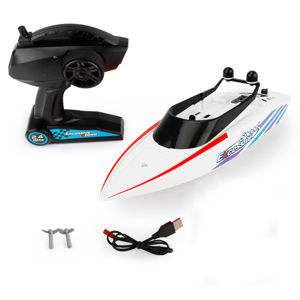 RC Boat High Speed 4CH 2.4G Radio Remote Control Boat RC Ship Toy Speedboat Mini Model Boat RC Racing Boat Children Gift boat