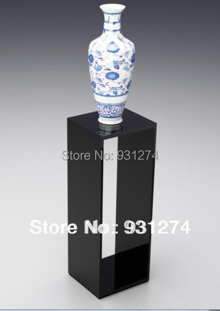 Acrílico flor casa sclupture pedestal pedestal stand lucite lobby sala de exposições de arte decoração colorida decoração da festa de casamento