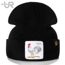 New Animal Beanie Hat Cock Embroidered Brand Casual Beanie For Men Women Knitted Winter Hat Solid Hip-hop Hat Unisex Bonnet Cap цена