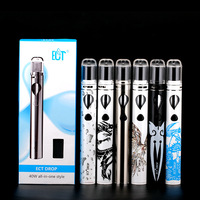 Original ECT Drop cigarrette 2.0ml huge vaporizer 2200mah battery electronic cigarette 10W 20W 40W ect drop kit vs ijust s