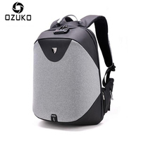 OZUKO 15inch Business Laptop Backpacks Men Luxury Coded Lock Anti Theft Backpack Multifunction USB Charge Casual