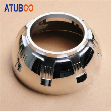 Touran A-1,Projector Lens Shroud For 3 Hid Bi-xenon Projector Chrome Mask Cover Bezel Car Headlight Retrofit Cap