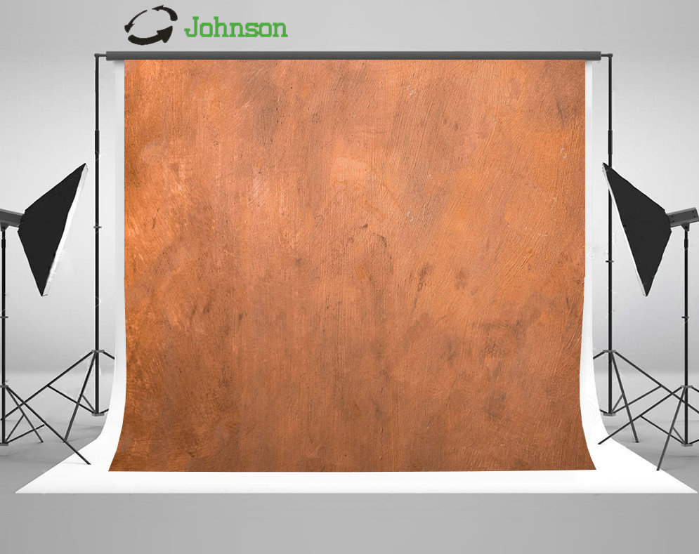 Copper Metallic Painted Surface Photo Backdrop Polyester