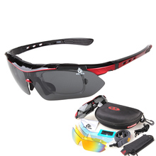 Fishing Eyewear Riding Cycling glasses detachable temples interchangeable lenses outdoor polarized sports Sun glasses