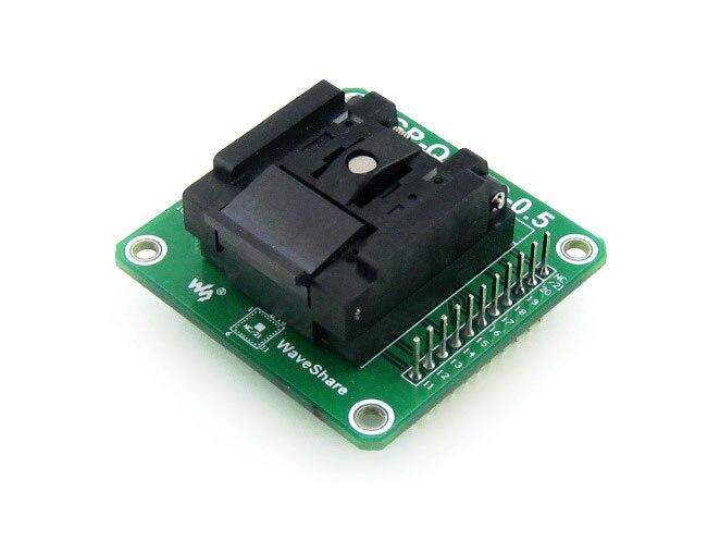 QFN20 MLF20 MLP20 QFN IC  Test Socket Programming Adapter Enplas QFN-20BT-0.5-01 0.5mm Pitch