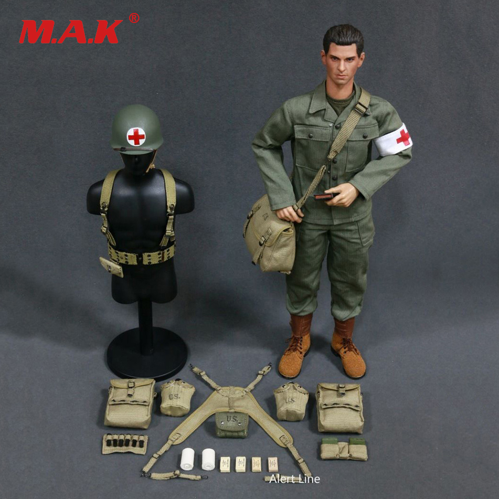 1:6 Scale WWII U.S.Army Military Surgeon Suit Soldier Clothing Model AL100014 For 12 Inches Action Figures 1 6 scale military accessories toy model wwii german metal