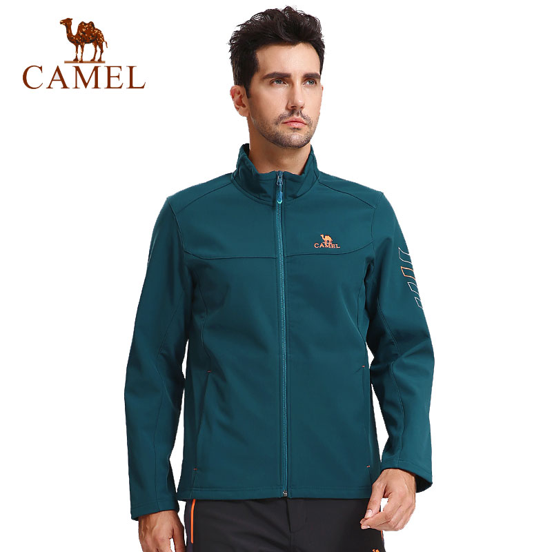 CAMEL Men's Autumn Winter Softshell Outdoor Jacket Windproof Thermal Climbing Camping Hiking Trekking Male Coat 2017 new brand outdoor softshell jacket men hiking jacket winter coat waterproof windproof thermal jacket for hiking camping ski