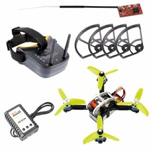 FPVEGG PRO 130mm Mini FPV Indoor Racer with Flysky Receiver I6 Remote TX Goggle Charger Battery Apron DIY Brushless Quadcopter