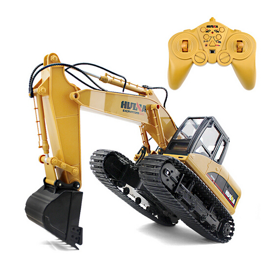 2016 High quality RC Excavator 15CH 2.4G Remote Control Constructing Truck Crawler Digger Model Electronic Engineering Truck Toy huina 1510 rc excavator car 2 4g 11ch metal remote control engineering digger truck model electronic heavy machinery toy