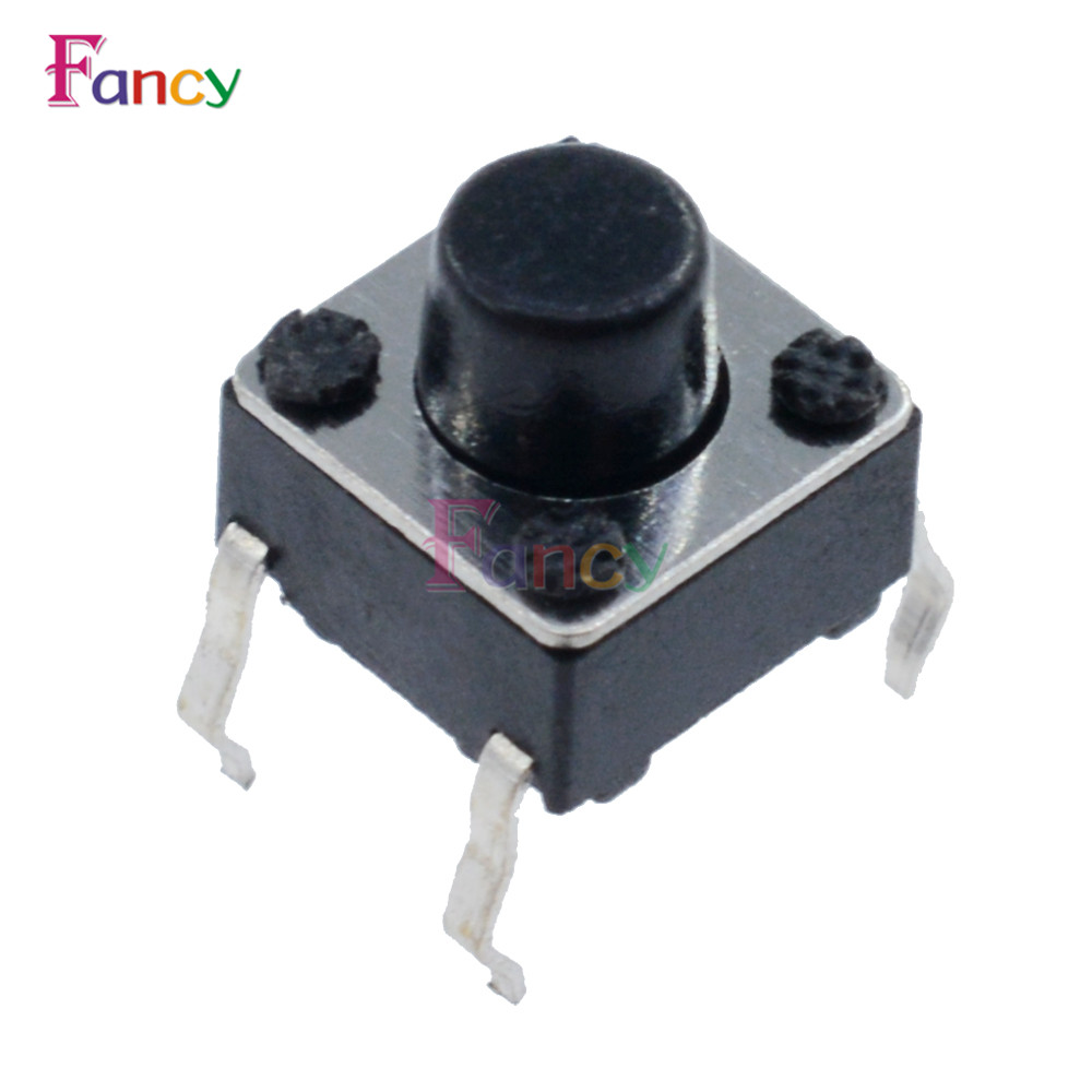 100pcs 6*6*6mm Light touch switch DIP4 ON/OFF Touch button Touch micro switch 6x6x6 keys button DIP 4pin 100pcs ttp223 ttp223 ba6 sot23 6 touch keys ic