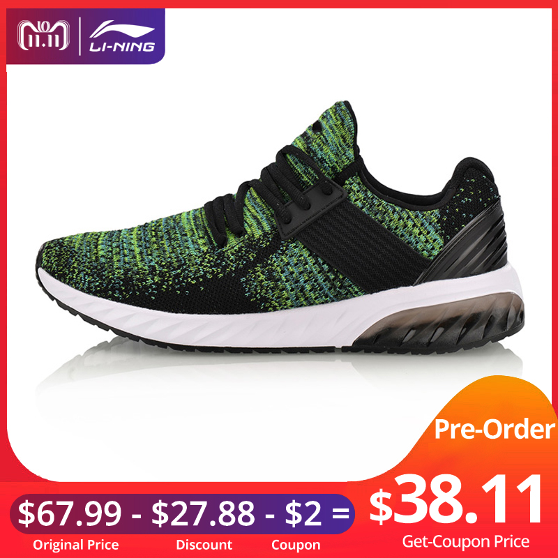 Li-Ning Men GEL KNIT Walking Shoes Mono Yarn Breathable LiNing Sport Shoes Wearable Anti-Slippery Sneakers AGLN041 YXB132 li ning women gel knit classic walking shoes wearable anti slippery sneakers mono yarn lining sports shoes agln044