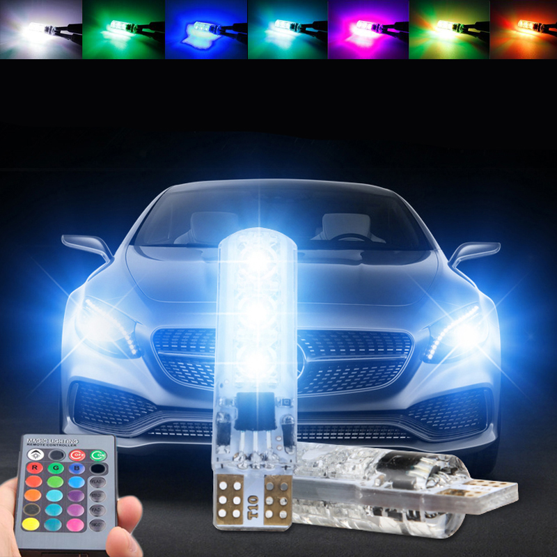 T10 W5W Led RGB strobe Light Projector Lens For <font><b>Citroen</b></font> C4 C5 C3 Grand Picasso <font><b>Berlingo</b></font> Xsara Saxo C1 C2 ds3 image