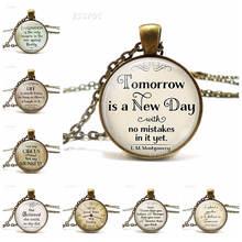 Завтра новый день ожерелье с цитатой anne of green gables вдохновляющая