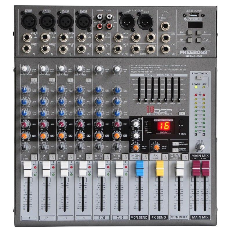 Console de mixage Audio 8 canaux Freeboss ME-82A