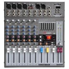 Freeboss ME 82A 8 canais de áudio console de mistura