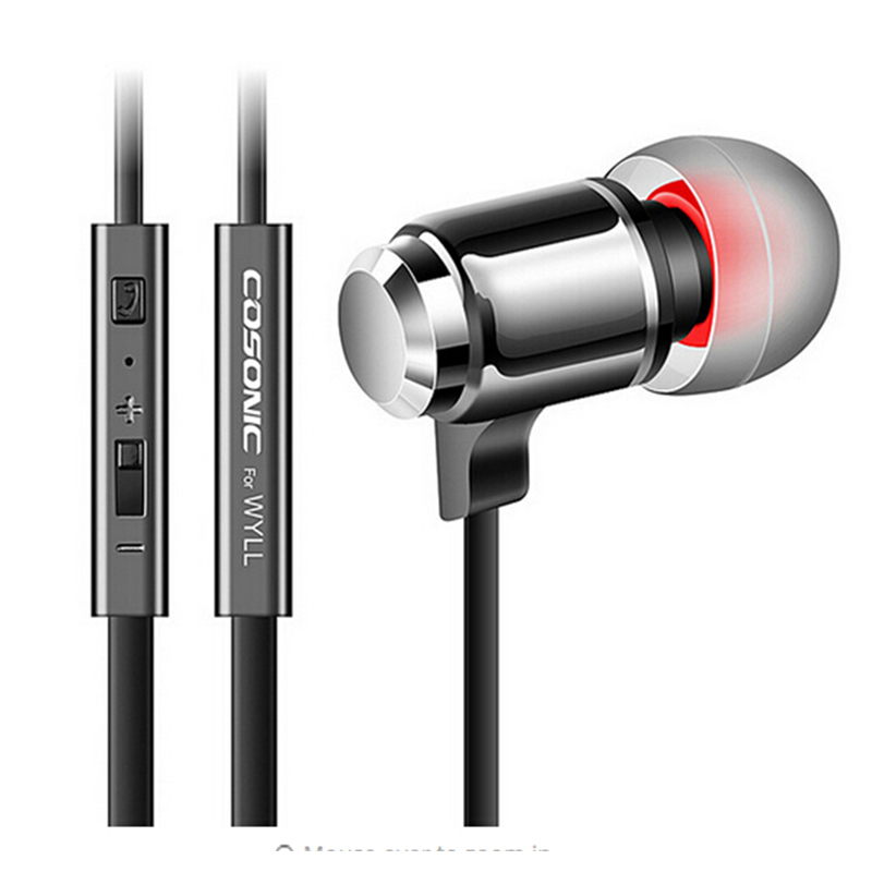 In-ear Earphone Metal Headset With Remote/mic/volume Control For Iphone,xiaomi,hongmi,samsung Phone Mp3 s6 3 5mm in ear earphones headset with mic volume control remote control for samsung galaxy s5 s4 s7 s6 note 5 4 3 xiaomi 2