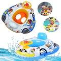 1 Pc Crianças Seguro Inflável Float Barco Brinquedos Do Bebê Bonito Dos Desenhos Animados Padrão carro Piscina Crianças Divertido Jogo De Esportes de Água Presente Do Verão