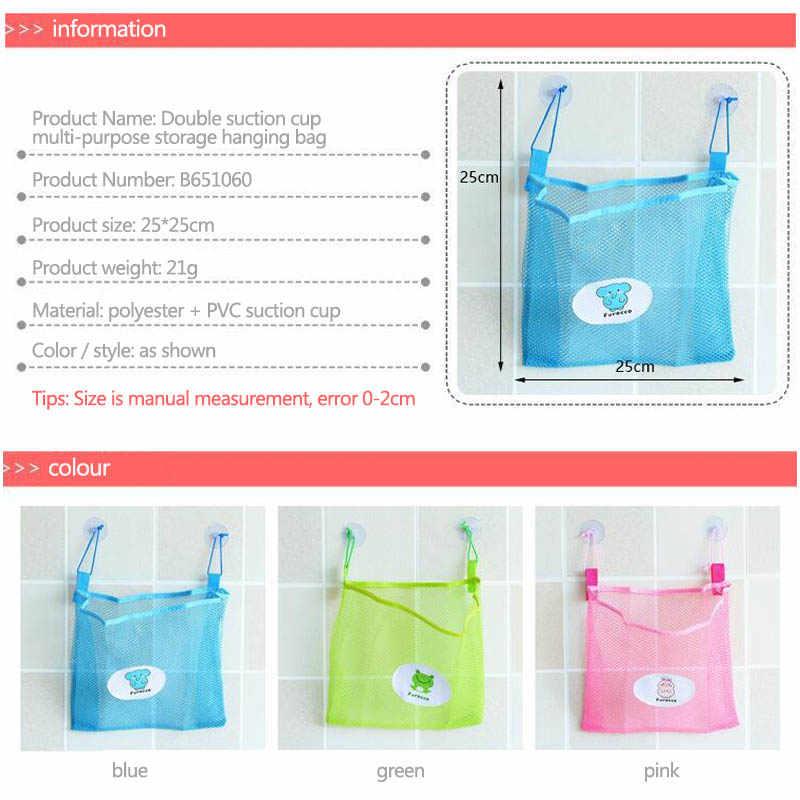 1 PC Umweltfreundliche Folding Multifunktions Saugnapf Körbe Net Kind Bad Spielzeug Lagerung Tasche Veranstalter Hause Bad Lagerung Werkzeuge
